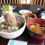 鯵のぶっかけ飯(富士山盛り)