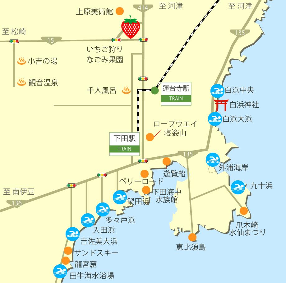 下田の観光マップ