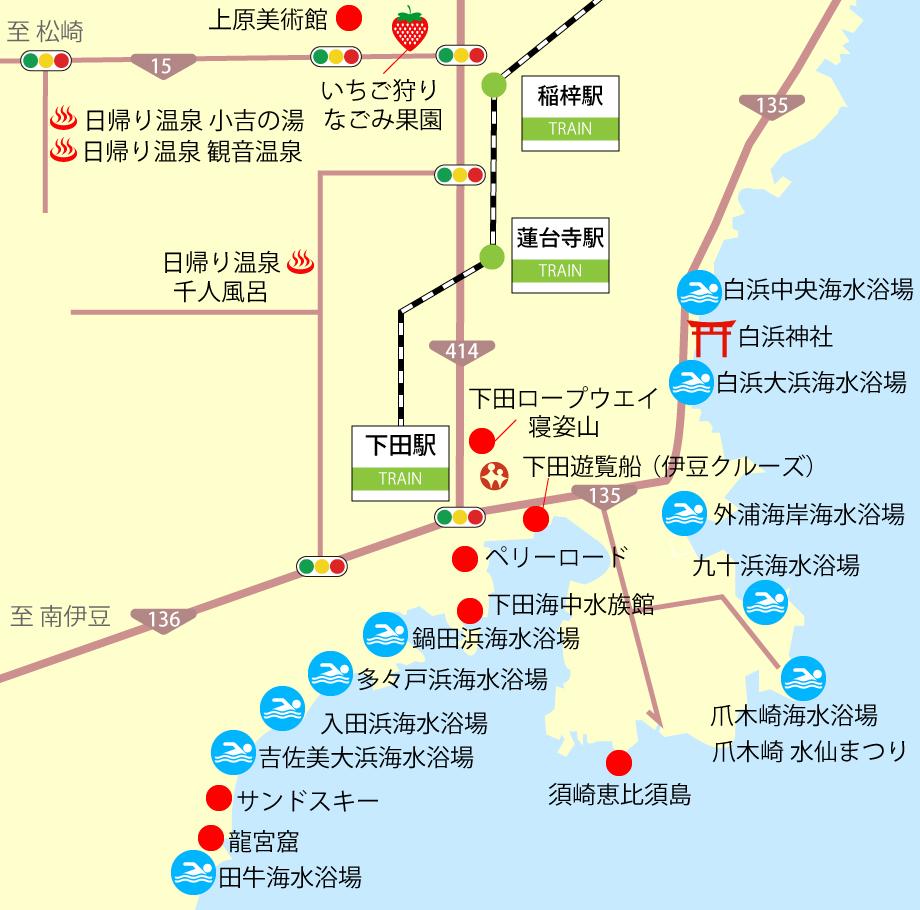 下田観光地図