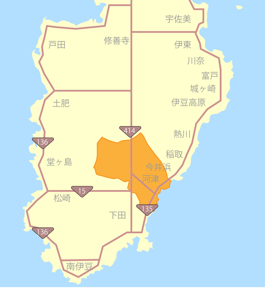 伊豆河津グルメ観光MAP