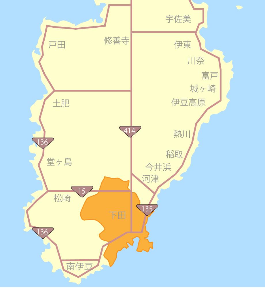 下田グルメ観光MAP