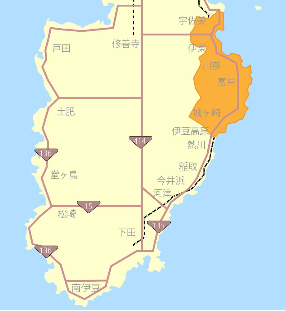 伊東・伊豆高原グルメ観光MAP