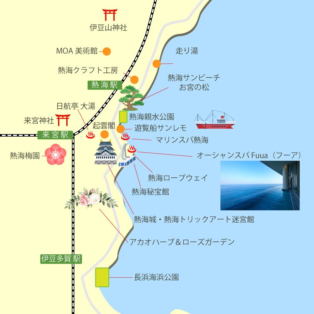 熱海観光マップ