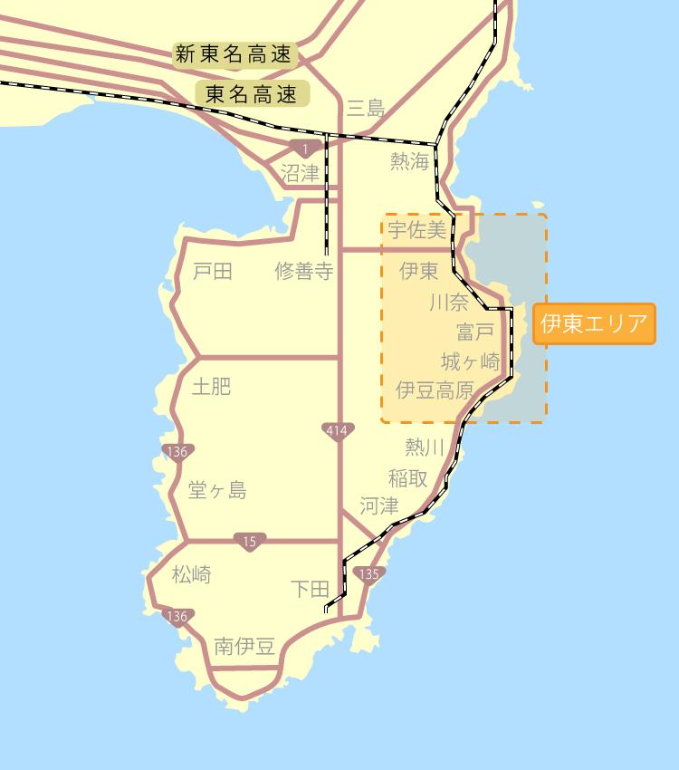伊東・伊豆高原マップ