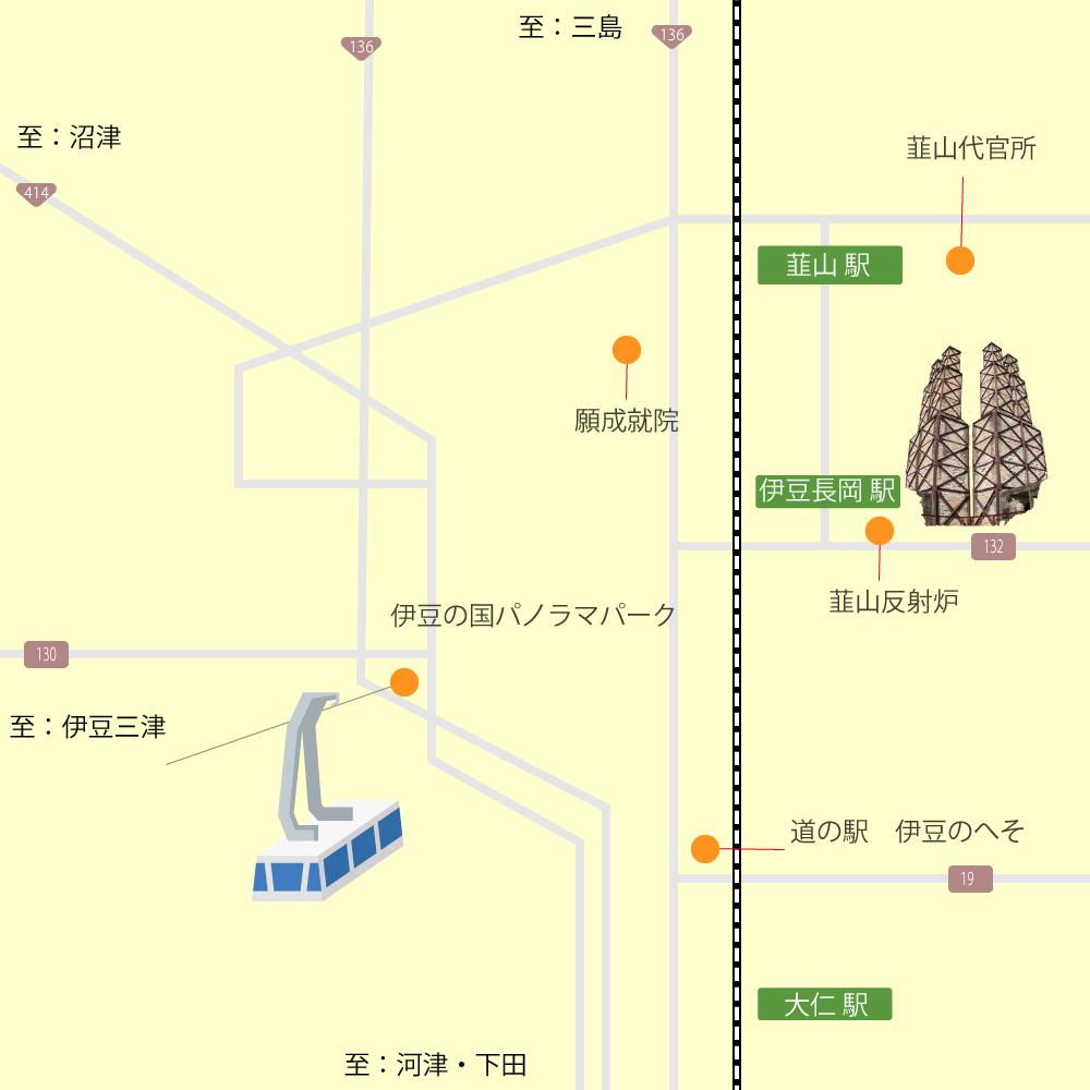伊豆長岡・韮山観光マップ