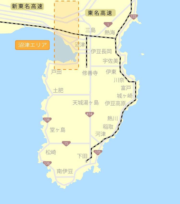 沼津エリアマップ