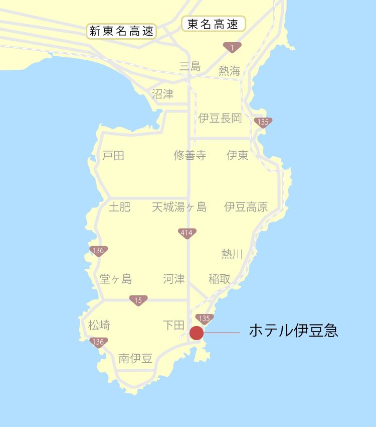 ホテル伊豆急伊豆地図