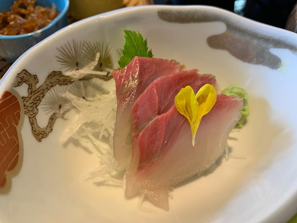 南伊豆 おか田 金目鯛の煮付け定食 ミニ刺し身小鉢