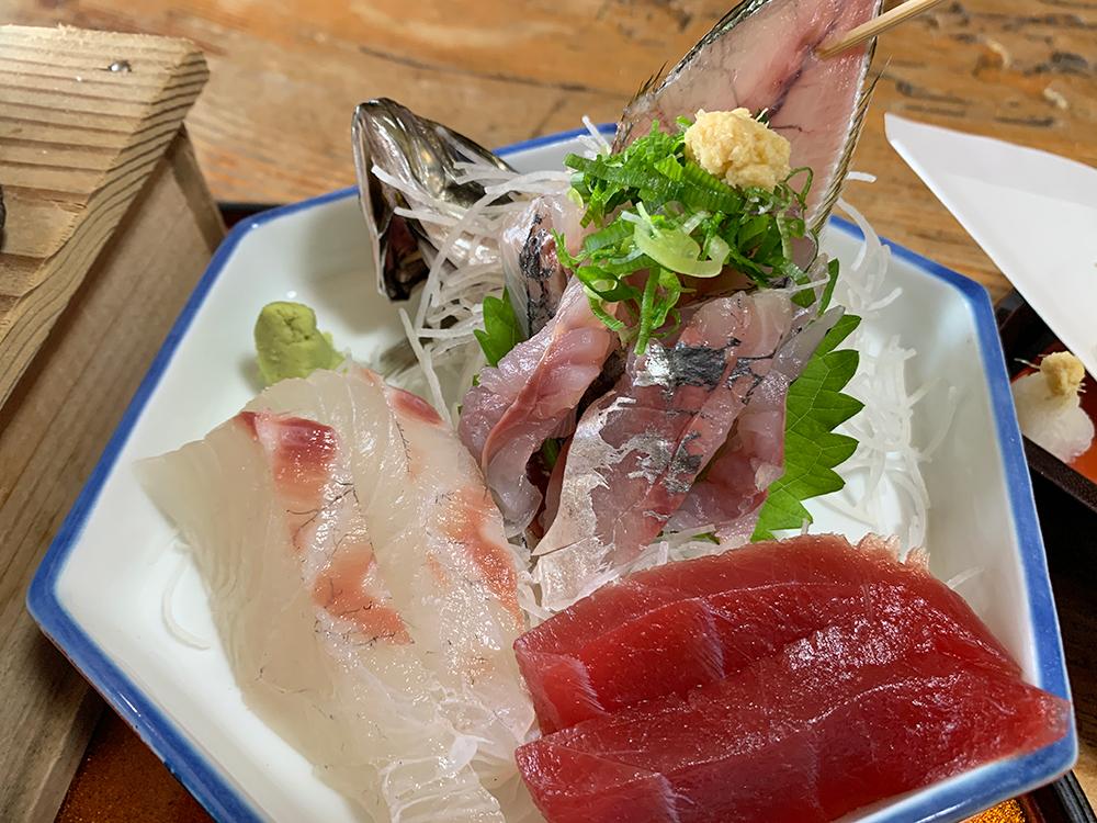磯一 下田 海鮮料理 おまかせ定食の刺し身