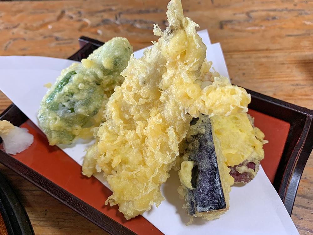 磯一 下田 海鮮料理 おまかせ定食の天ぷら