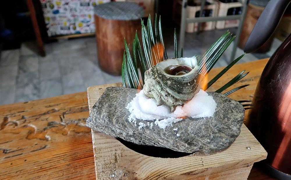磯一 下田 海鮮料理 おまかせ定食のサザエのつぼ焼き