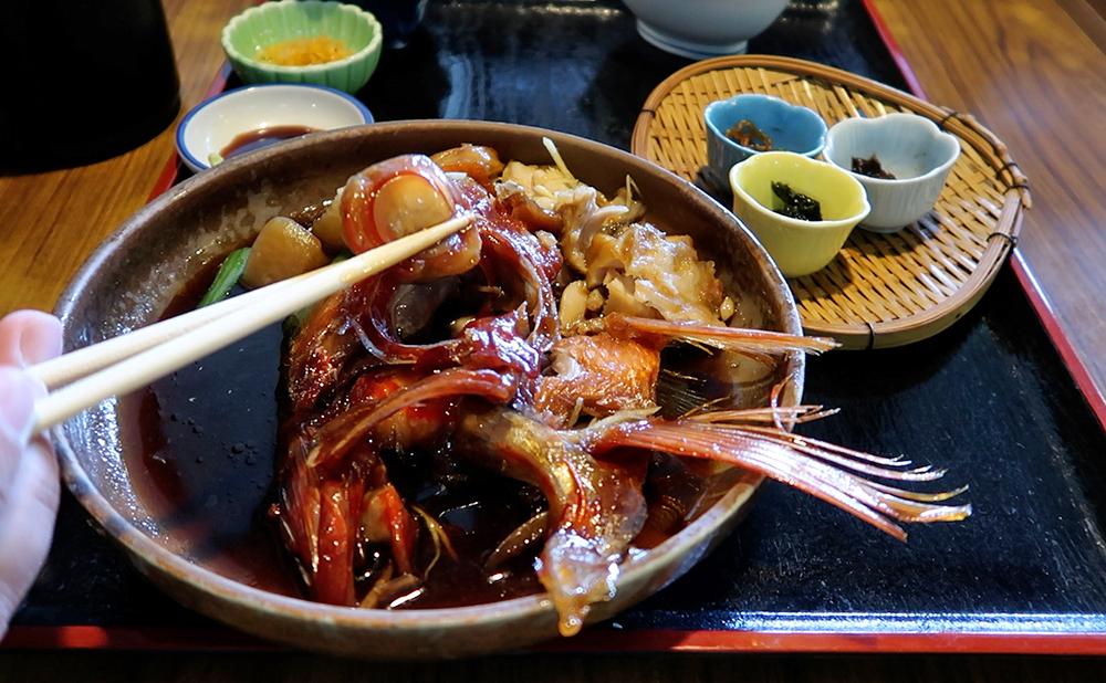 南伊豆 おか田 金目鯛の煮付け定食