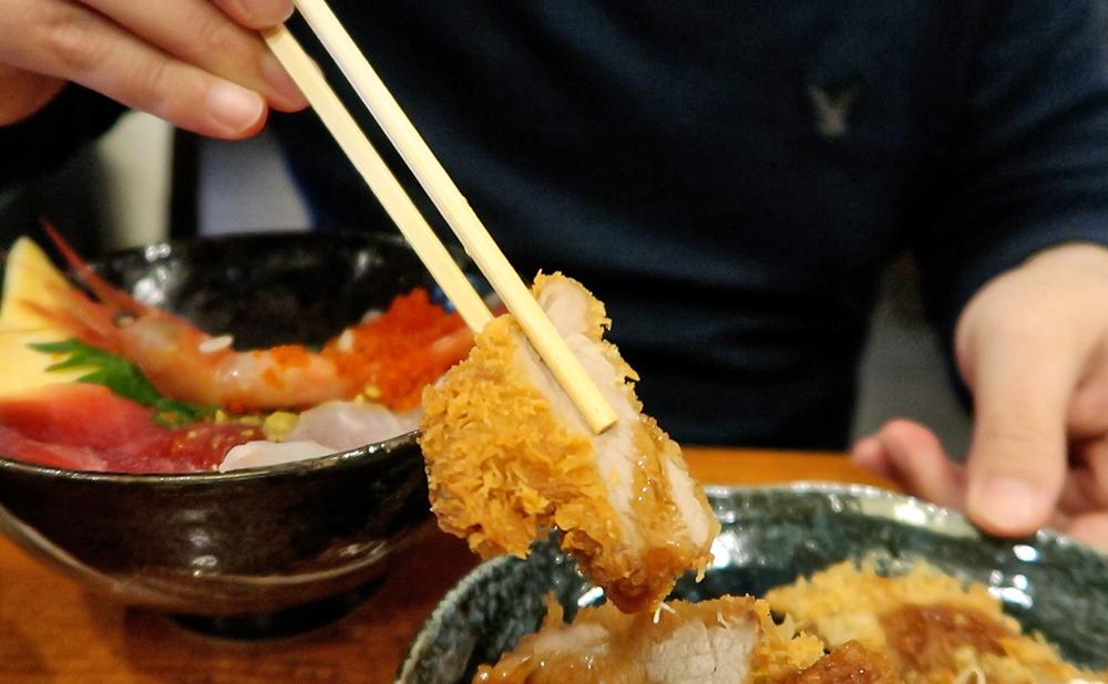 海鮮料理 やまや 海鮮丼&ミックスフライセット フライ ヒレカツ
